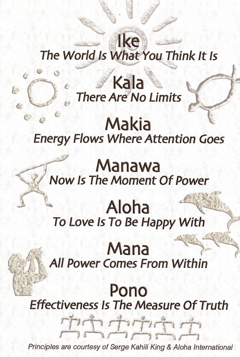 Hawaiian Shamanic Principles by Serge Kahili King and Aloha International