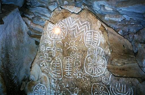 Loughcrew Interior Glyphs Enhanced 2002