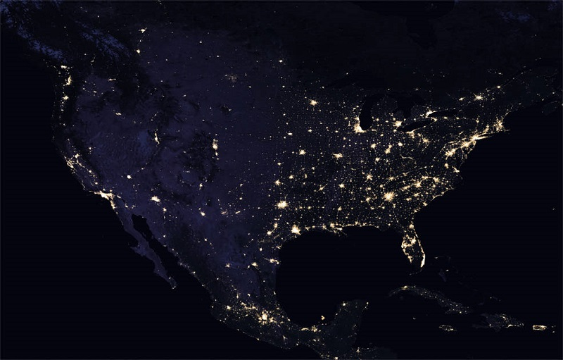 NASA Lights North America 2016