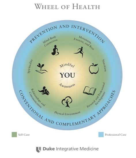 Wheel of Health Duke Integrative Medicine